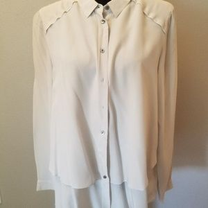 Poetry Size 10 Bone Shirt Blouse Never Worn